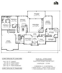 3 bedroom 1 story house plan