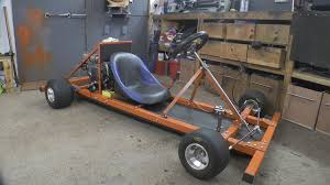 making a motorised go cart with no welder and simple tools 1 chis engine you