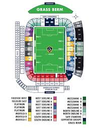 Seating Map La Galaxy