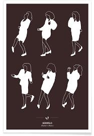 Miss Elaine Size Chart Seinfeld Dance Poster