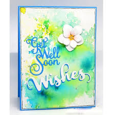 Words Get Well Soon Metal Cutting Dies Stencils For Diy Scrapbooking
