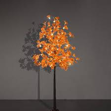 Lightshare Led Lighted Maple Tree Orange 5 5 Ft Lightshare Led Lighted Maple Tree Dotted With