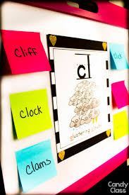 while either projecting the pdf of these on the board or using the blends poster you can have students write a word on a sticky note that begins with the