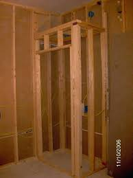 How to frame a closet Room Onthehouse How Km1info How To Build Header For Door Build Closet Door Header Making