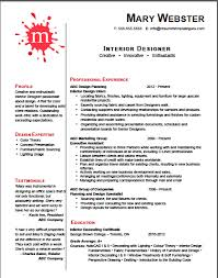 Interior Design Resume Templates Enchanting Interior Designer Resume Template Resume Templates That Get