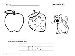 Free Color Worksheets For Preschoolers Worksheets for all ...