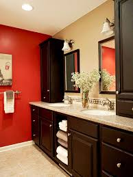 bath in red and brown