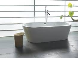 AKDY F224+8711 Bathroom Combo, White Color Acrylic Freestanding ...