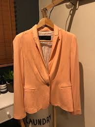Light Orange Blazer Zara Basic Salmon Blazer On Carousell