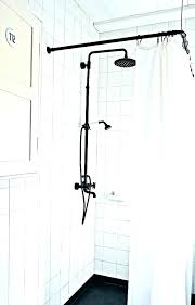 shower rod adjule curved fixed curtain double tension mounted straight curt brushed nickel moen installation