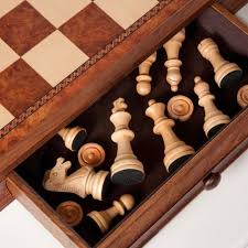 checkers and chess set vintage wooden board wood table game with storage s