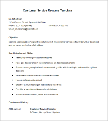 Free Customer Service Resume Templates Cool 28 Customer Service Resume Templates PDF DOC Free Premium