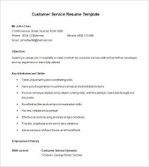 Customer Service Resume Templates Free Interesting 28 Customer Service Resume Templates PDF DOC Free Premium