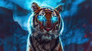 blue glowing eyes Wallpaper 4k Ultra HD ...