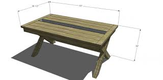wooden outdoor table plans. Outdoor Table. Delighful The Design Confidential Free Diy Furniture Plans To Build A Rustic Wooden Table E