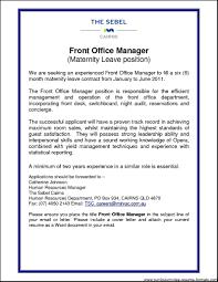 Front Desk Resume Virtren Com