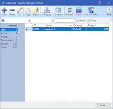 Download Invoice Manager For Excel 7 12