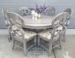 weathered wood dining set