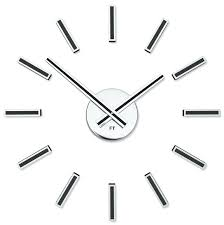wall clocks black wall clock designer self adhesive future time modular design clocks roman numerals