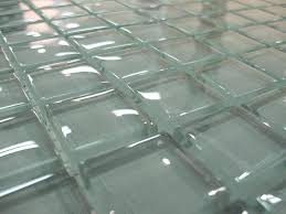 clear glass tile clear glass tile clear glass tile with dark grout clear glass tile