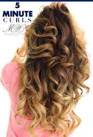 Hair Style Curling best 20 5 minute curls ideas fast curls easy 3863 by wearticles.com