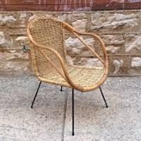 I Mid Century Modern Vintage Wicker Chair CalAsia  Nice Mid Century Modern  Vintage Wicker