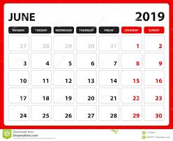 Desk Calendar For June 2019 Template Printable Calendar Planner