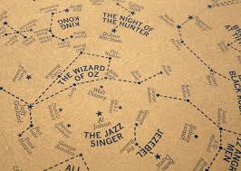 Star Charts Of The Night Sky Transformed Into Hollywood