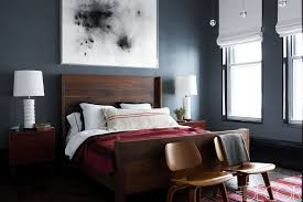 bedrooms with dark color palettes