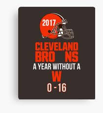 cleveland bro ns football a season without a w t shirt canvas print on cleveland browns canvas wall art with cleveland browns canvas prints redbubble