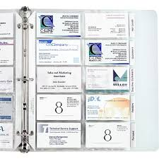 Business Card Holder Poly With Tabs 5pk 61117 C Line Products
