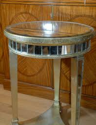stunning round mirror side table mirrored side table in mirrored side table