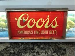 Coors Light Light Up Sign Vintage Coors Beer Sign 51 Inches Long And Lights Up Bar