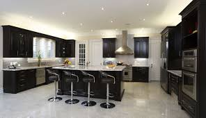 Modern Kitchen Countertop Wood Kitchen Countertops Dark Wood Cabinetry Contrasts With White