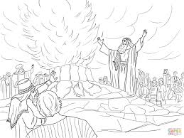 10 elijah called down fire from heaven coloring page elijah called down fire from heaven coloring page free printable on fire coloring pictures