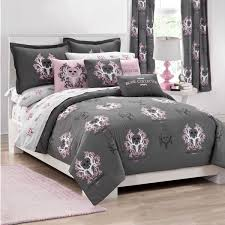 amazing bone collector pink grey comforter sets the home for full idea 15