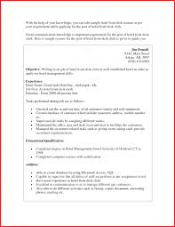 Hospitality Hotel Front Desk Resume Example Privacy Policy Cover