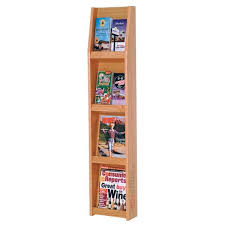 Single Magazine Display Stand Cool Combination Magazine Brochure Stand From Wooden Mallet ABC Office