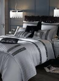 black white silver bedding sets white ng with silver sequins kylie silver sequin on unique kylie