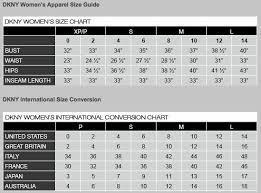 Dkny Size Chart Women S 18 Eye Catching Dkny Sizing Charts