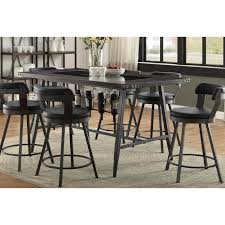 brown and metal counter height dining table appert rc willey furniture
