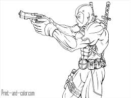 Deadpool Coloring Page Free Printable Pages Best Of Wumingme