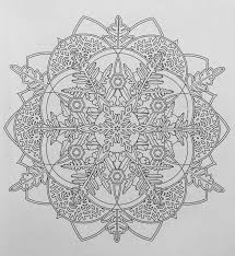 Snowflake Mandala Coloring Pages Creative Haven Mandalas Book Cool