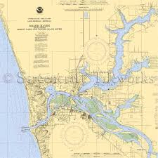 Lake Mi Depth Chart Michigan Spring Lake Grand Haven Nautical Chart Decor