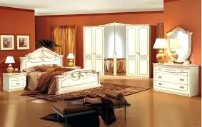 bedroom furniture photo. Traditional Bedroom Furniture White Modern Painted Orange Wall Photo