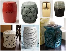 photo 2 of 8 outdoor ceramic stool 2 ceramic garden stool fits well in limited space of you garden