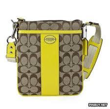Coach Legacy Signature Swingpack Light Khaki Lemon Crossbody Bag - Cross  Body - Bags and Purses