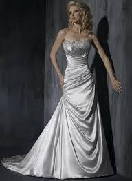 silver wedding dresses silver wedding dress a line silhouette