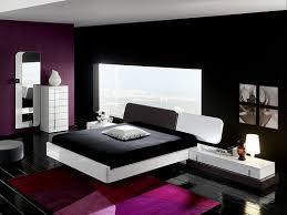 purple modern bedroom designs. Modern Black And White Bedroom Design With Purple Rugs Wall Designs