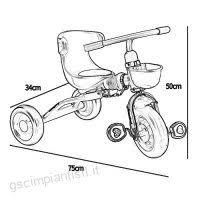 Tricicli Bambino Bicicletta Trolley Grande Per Bambino Carrozza Per
